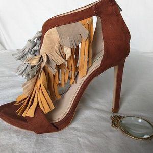Zara Basic Collection  Fringe Tassel Heels